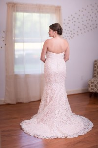 Bride in Wedding Dress from Behind
