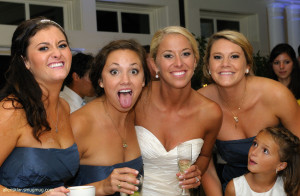 Bridesmaids and Bride Having Fun