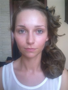 Before Bridal Makeup Application