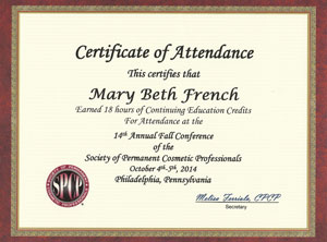 SPCP Education Certificate