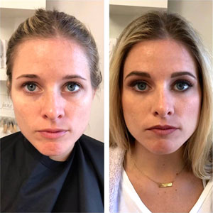 Before and After Makeup Girl