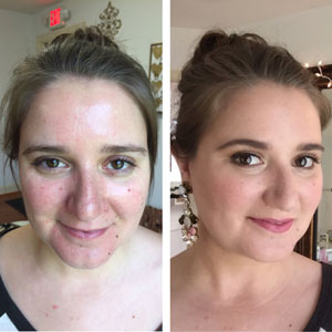 Wedding Before and After Makeup