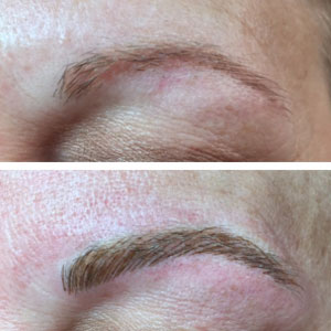 Eyebrow Before and After Permanent Makeup