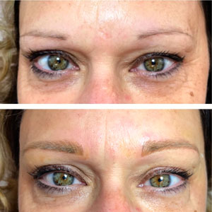 Permanent Cosmetic Eyebrows Before After