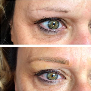 Tattoo Eyebrows Before and After