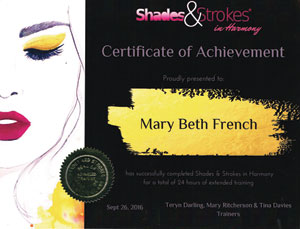 Shades and Strokes Certificate