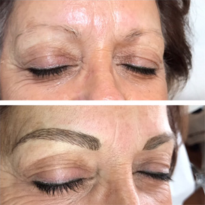Full Eyebrows with Tattoo Makeup