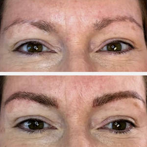 Filled In Eyebrows Permanent Makeup