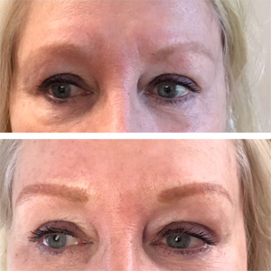 After and Before Indelible Eyebrow Cosmetics