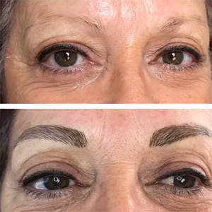 Thin Eyebrows Made Full Permanent Makeup