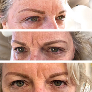 Beautiful Shaped Permanent Eyebrow Makeup