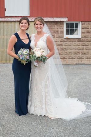 Happy Bride and Friend