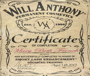Will Anthony Certificate